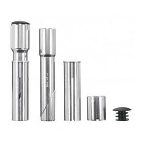 "Ergotec Stem Adapter Threaded / Ahead 1 ""+ 1 1/8"" Aluminum silver"
