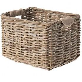 BASIL Transport basket DALTON L Rattan, nature grey