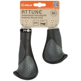 Bike Grips Velo-Attune 135/92 mm black/grey pair