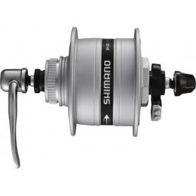 SHIMANO Nabendynamo DH-3D37  6V/3W 36Loch Centerlock silber (+Überspannungsschutz)