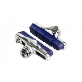 Bremsbeläge RT für blanke Aluminiumfelge inkl. Unterleg-Scheiben, Bremss chuhe in silber (VE   1 Paar)
