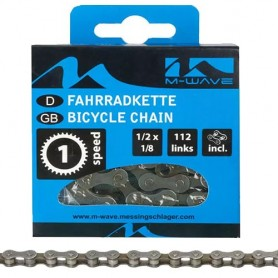 Chain M-Wave 1 spd, 1/2 x 1/8 112 links box, brown