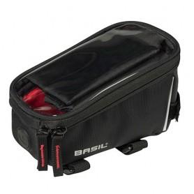 Top tube bag SPORT DESIGN FRAME BAG 1 liter Basil, black + rain cover