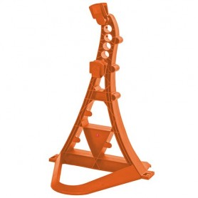 Multifunctional bicycle stand TURRIX Hebie, orange