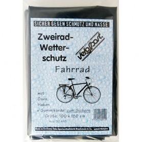 Velo Bruckmann Faltgarage Fahrrad, PE grau 2 Ösen + Gummizug 180x100cm