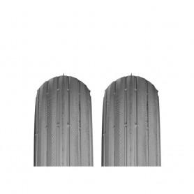 2x tire Impac IS302 4 PR 8 1/2x2.00 inch 225x55 grey