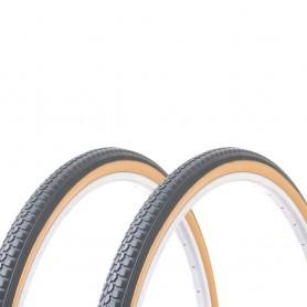 2x Hutchinson tire Urban 37-590 26 inch wire black beige