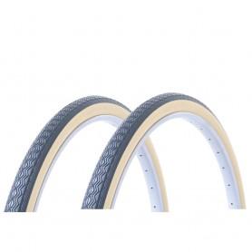2x Hutchinson tire Junior 37-490 22 inch wire black beige