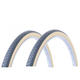 2x Hutchinson tire Junior 37-390 18 inch wire black beige