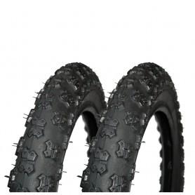 2x Hutchinson tire Junior 62-203 12 inch wire black