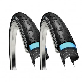 2x CST tire Xpedium Safe 37-622 28 inch wire black reflecting