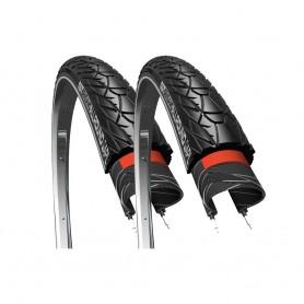 2x CST tire Sensamo Allround 40-635 28 inch black reflecting