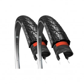 2x CST tire Sensamo Allround 37-622 28 inch wire black reflecting