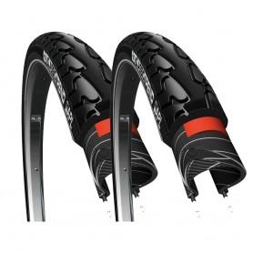 "2x Reifen CST Classic Trend 28x1 5/8 x 1 3/8"" 37-622 schwarz Reflex"