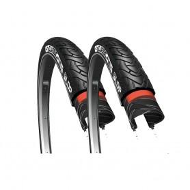 2x CST tire Classic Otis 3 37-590 26 inch wire black reflecting
