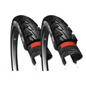2x CST tire Classic Tuscany 50-507 24 inch wire black reflecting