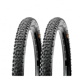 2x Maxxis tire Aggressor TLR 58-622 foldable black Dual EXO