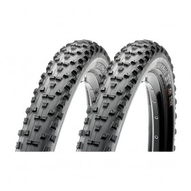 2x Maxxis tire Forekaster TLR 56-622 foldable black EXO Dual