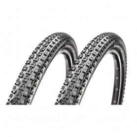 "2x Maxxis bicycle tyre CrossMark foldable EXC 52-622 29"" black"
