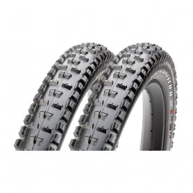2x Maxxis tire HighRoller II+ TLR 71-584 foldable black EXO Dual