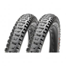2x Maxxis tire Minion DRear wheel II+ TLR 71-584 foldable black EXO Dual