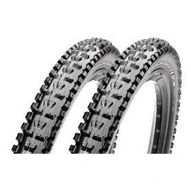 2x Maxxis tire HighRoller II 61-584 27.5 inch wire black 3C MaxxGrip