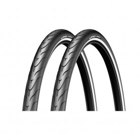 2x Michelin tire Energy 37-622 28 inch wire black reflecting