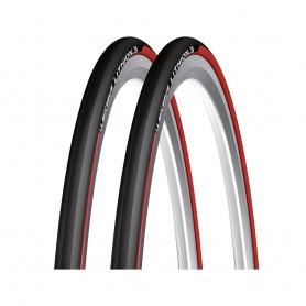 "2x Reifen Michelin Lithion3 faltbar 28"" 700x23 23-622 rot"