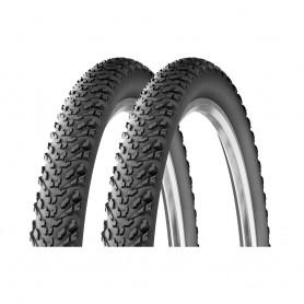 """2x Reifen Michelin Country Dry2 Draht 26"""" 26x2.00 52-559 schwarz"""