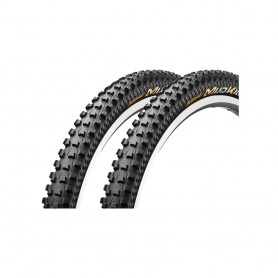 2x Continental 47-584 Mud King ProT black foldable skin
