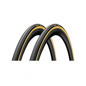 "2x Continental 22 x 28"" Giro Tubular tyre,black-transparent"
