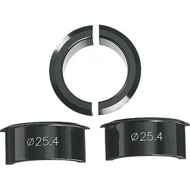 ERGOTEC Vorbau-Adapter, Set 4-tlg., swz. Lenkerklemmung 31.8 -- 25.4mm