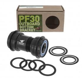 """WHEELS """"PF30 to Outboard""""-Innenlager mit Enduro-Lagern Abec3, für 24mm-Kurbel (Shimano-Standard), Gehäusefarbe: schwarz"""