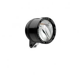 SON 'Edelux II DC' Scheinwerfer schwarz, 6V, OHNE Kabel, Schalter, Rücklichtausg. , NICHT geeignet bei niedriger Stombegrenzung