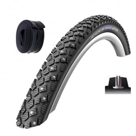 // passende Schläuche Schwalbe WINTER Fahrradreifen Spike Reifen Reflex Draht