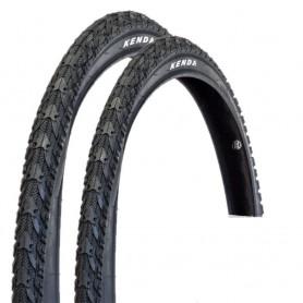 2x Kenda K-948 Fahrrad Reifen schwarz Tour MTB Semi Slick 50-559 I 26 x 1,95