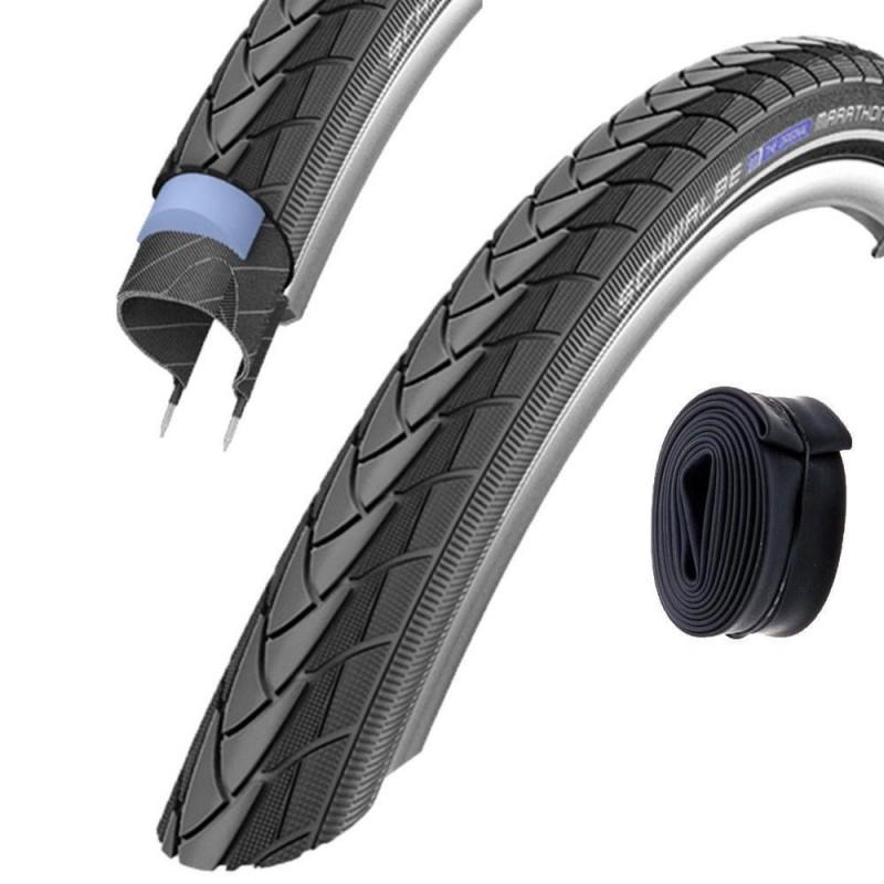 2x Schwalbe Marathon Plus Bike Tyre 16 20 24 26 27,5 28 inch unplattbar