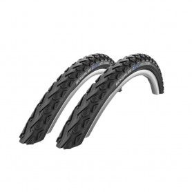 "2x Schwalbe Land Cruiser Fahrrad Reifen 24"" 50-507 24 x 2,0 Kevlar"