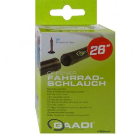"2x GAADI offener bicycle tube 26"" box 37-50/559 DV-40mm without wheel change"