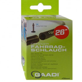 "2x GAADI offener bicycle tube 26"" box 50-57/559 DV-40mm without wheel change"