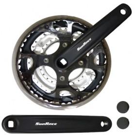 SunRace Crankset, FCM300 28-38-48 170 mm/aluminum black