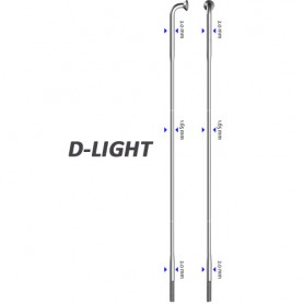 Sapim spoke D-Light 90°, Ø 2.0-1.65-2.0, Alu, silver, 100 pieces