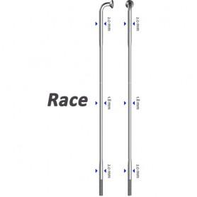 Sapim spoke Race 90°, Ø 2.0-1.80-2.0, silver, 100 pieces
