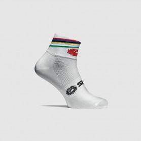 SIDI Socks Rainbow, Größe 44-46, weiß/bunt