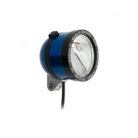 SCHMIDT 'Edelux II' Scheinwerfer BLAU 90 Lux, 140cm Koax-Kabel, nicht konfekt.