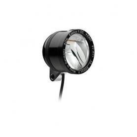 SON 'Edelux II DC' Scheinwerfer schwarz, 6V, Kabel, OHNE Schalter+Rücklichtausg. , NICHT geeignet bei niedriger Stombegrenzung (