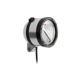 SON 'Edelux II DC' Scheinw. silber elox. 6V, Kabel, OHNE Schalter+Rücklichtausg. , NICHT geeignet bei niedriger Stombegrenzung (