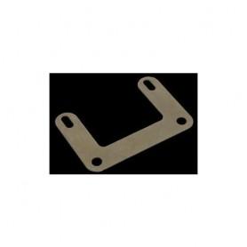 SON Adapterblech, Niro, plane Ausführung Lochabst. 50mm, für Reflektormontage z.B. B+M 313/Z1 (320-R25) an SON-Rücklicht oder B+