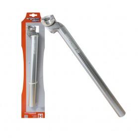 ERGOTEC Alu-Patentsattelstütze, silber 350mm, Einschraubenklemmung, 29.8 mm safety level 2 - zert.100 kg (E-Bike City/Trekking 4