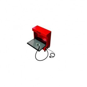 R.S.P. MICROCLEAN Teile-Reinigungsgerät, ohne Befüllung, neues Design, Gehäusefarbe rot